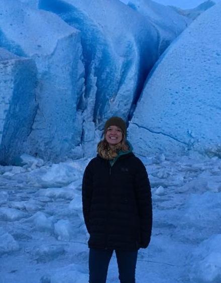 Diana at Mendenhall Glacier