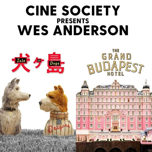 Two of our favorite Wes Anderson movies are next up:  Wednesday, 15th of May: 'Isle of Dogs' Thursday, 23rd of May: 'The Grand Budapest Hotel'  Only a couple of tickets left for 'Isle of Dogs' so be quick, and book your seat! Link to our webshop in the bio! ☝️