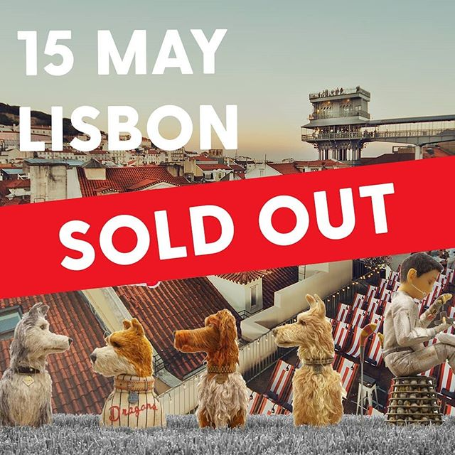 What a start of our new season! We are sold out once again 🎉⠀ ⠀ It promises to be another beautiful night in sunny Lisbon and we can't wait to watch 'Isle of Dogs' together with our fellow cine lovers. ⠀ ⠀ Are you also a big fan of Wes Anderson? Already 60% of the tickets for 'The Grand Budapest Hotel' have been sold. If you want to join us next week on Thursday the 23rd, go to our webshop and get your tickets 🎟️ Link in bio!