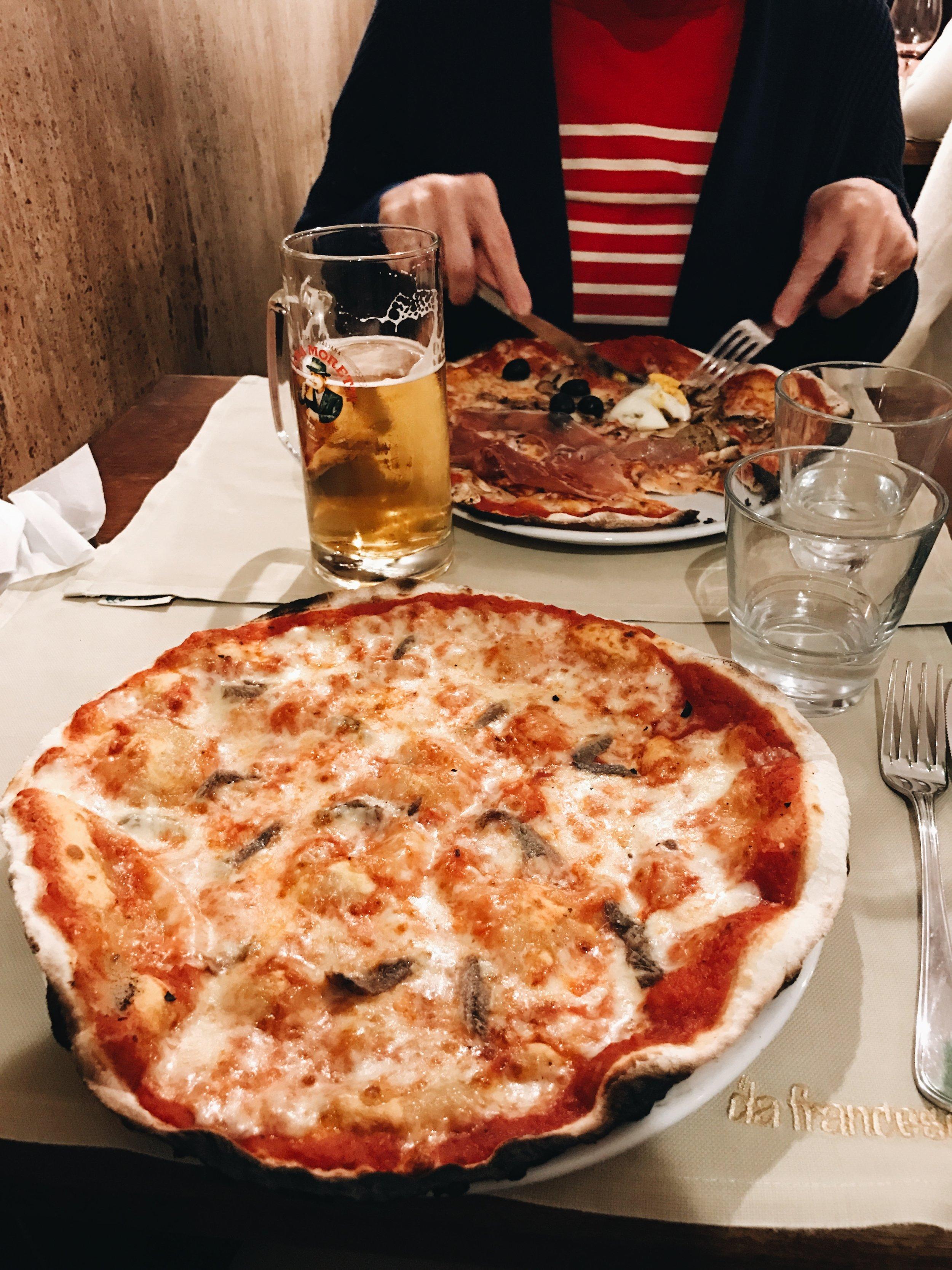 Pizza at Da Francesco