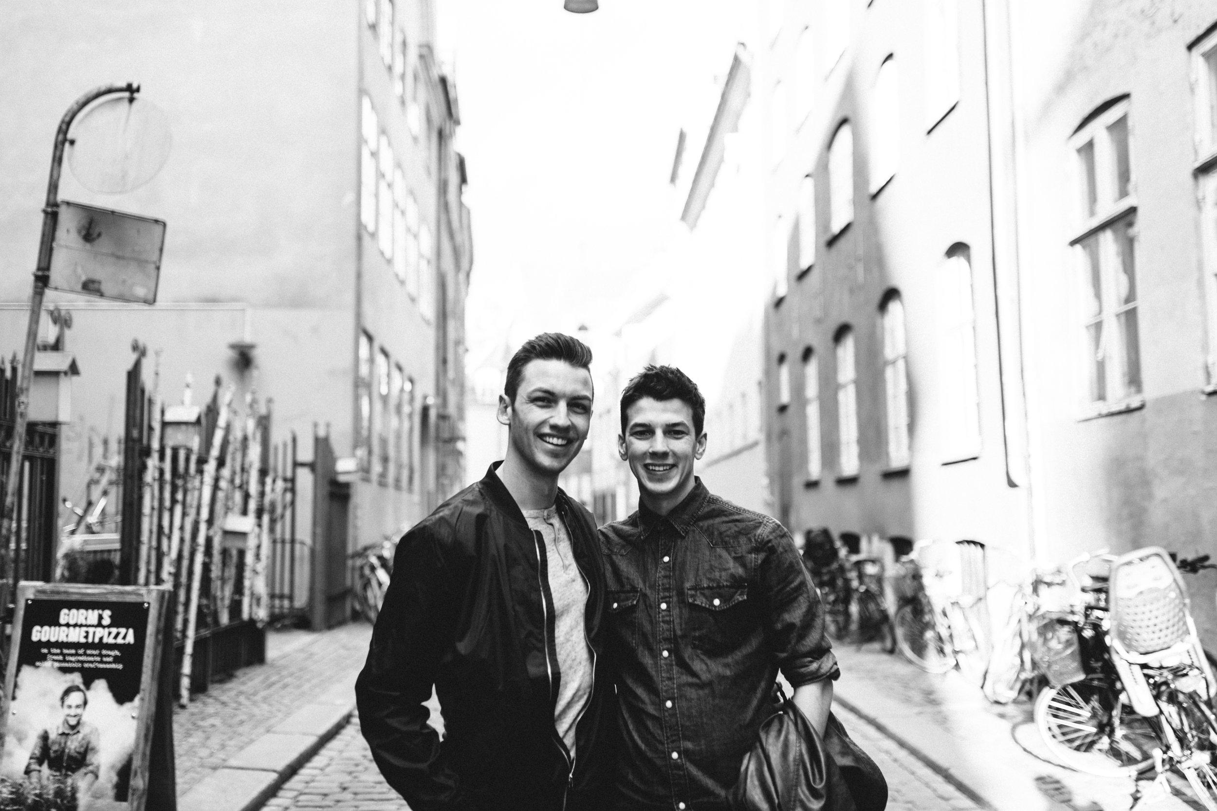 Michael and Matthew in Copenhagen