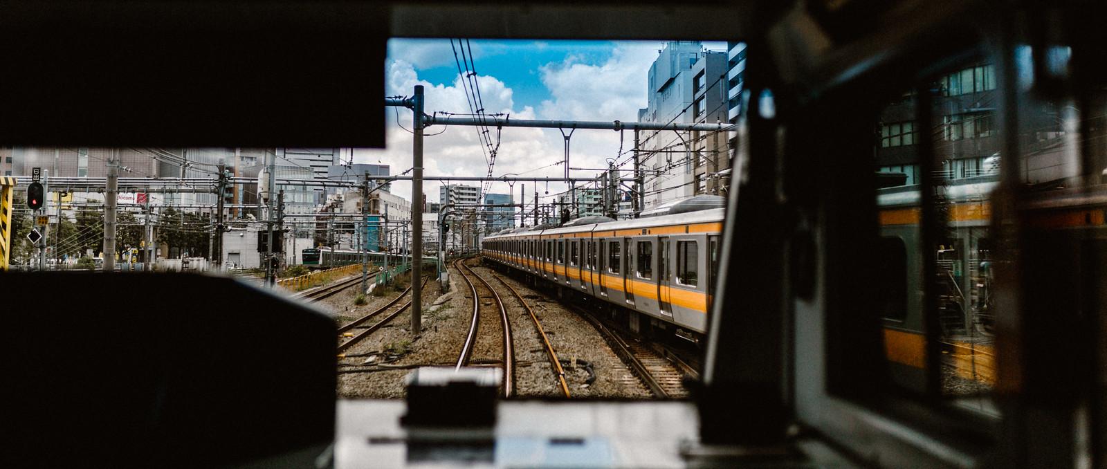 Tokyo metro train Shinjuku subway station Japan