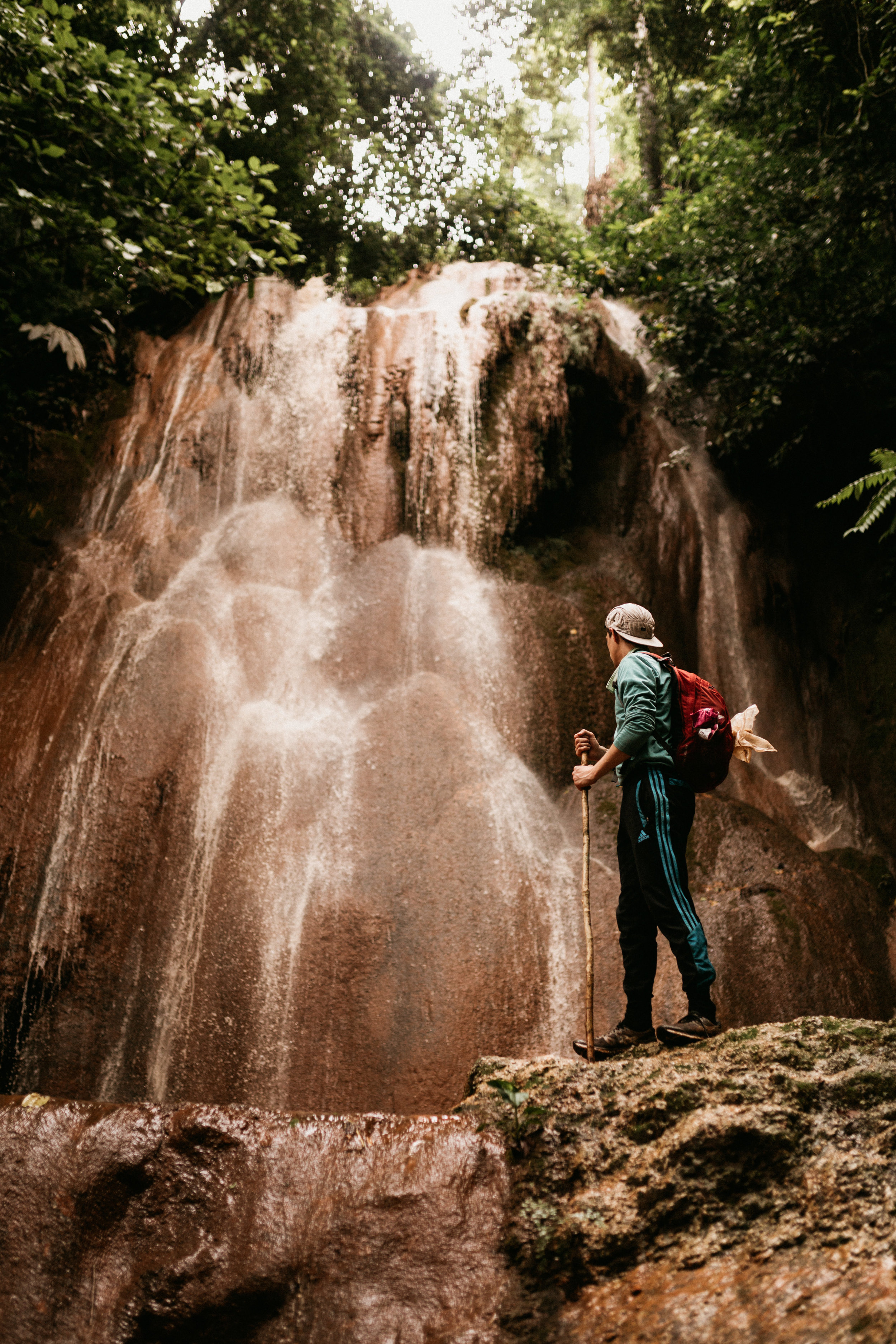 Closing out the experience by visiting a few of the stunning waterfalls of Salawin National Park. Usually the water is seen as a translucent blue/green, but on our visit due to the storm, the water appeared a deep orange/brown, almost like a river Thai iced-tea!