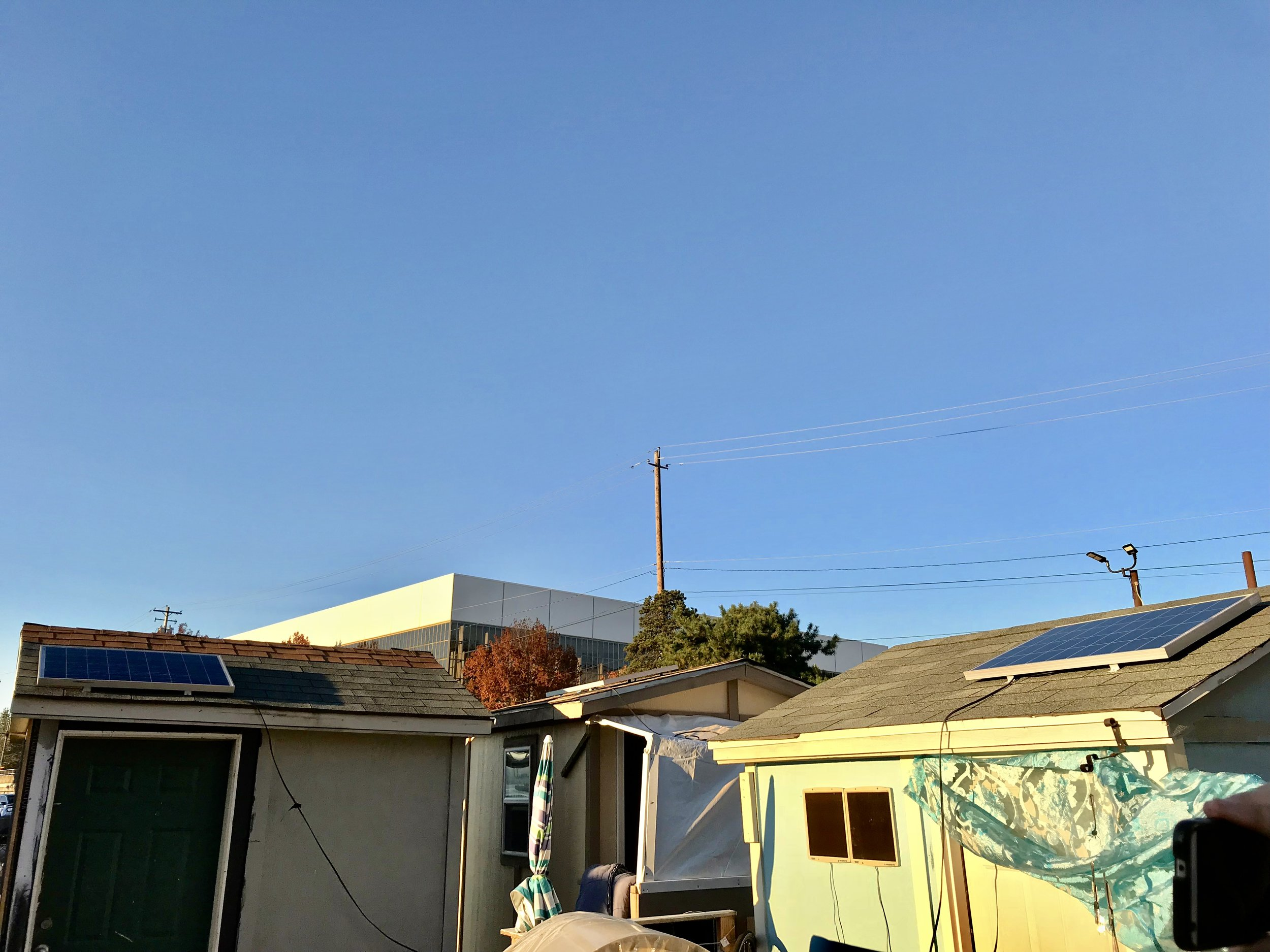 Solar panels installed at Right 2 Dream Too with the support of the Lloyd EcoDistrict and eBay Portland (click to expand)