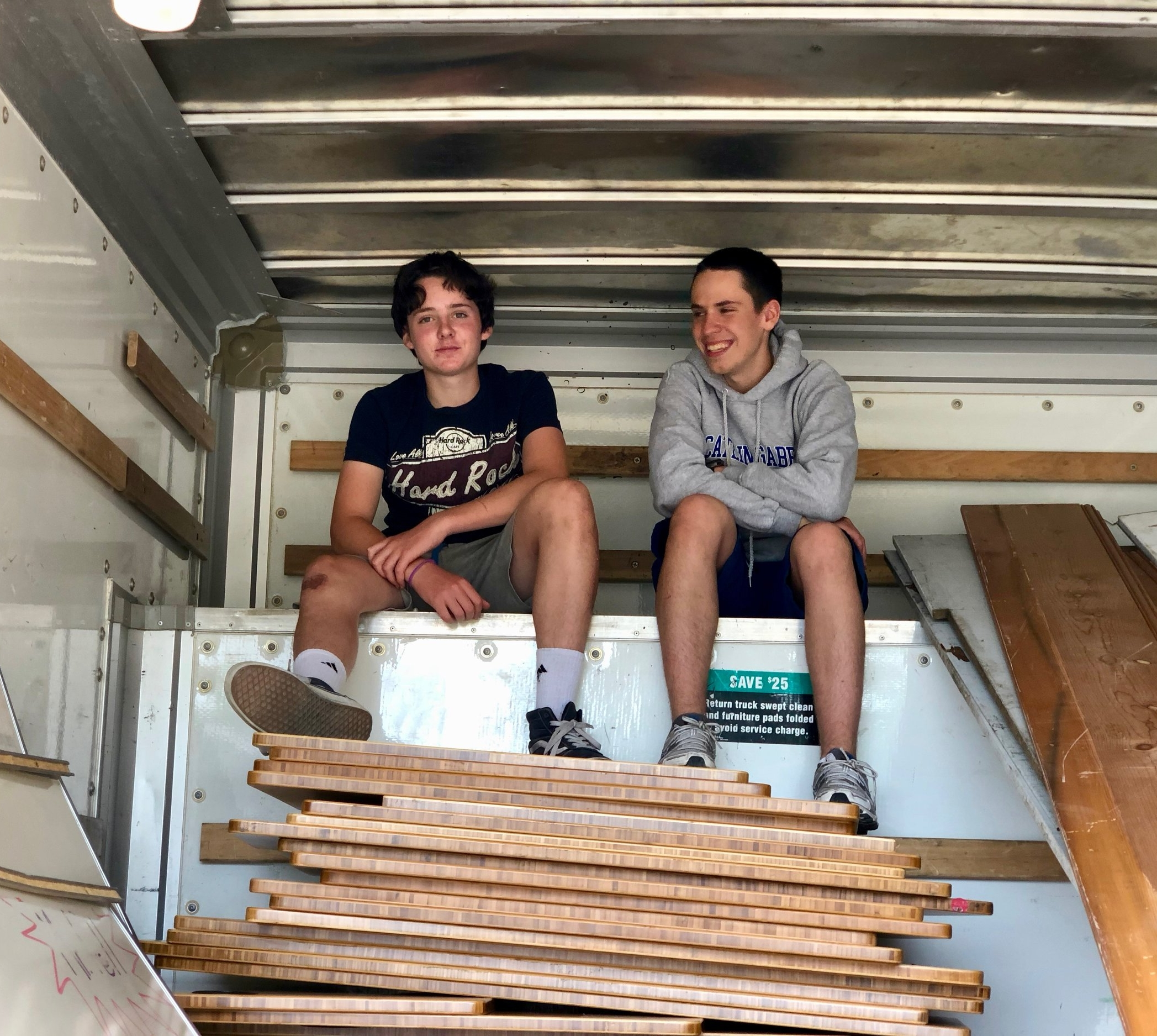 Shine Summer Internship - The 2018 Shine Summer Interns worked at Agape Village to produce and install JuiceBoxes in off-grid tiny houses, perform R&D for JuiceBox 3.0, and develop additional community partnerships including with Autodesk and Free Geek.