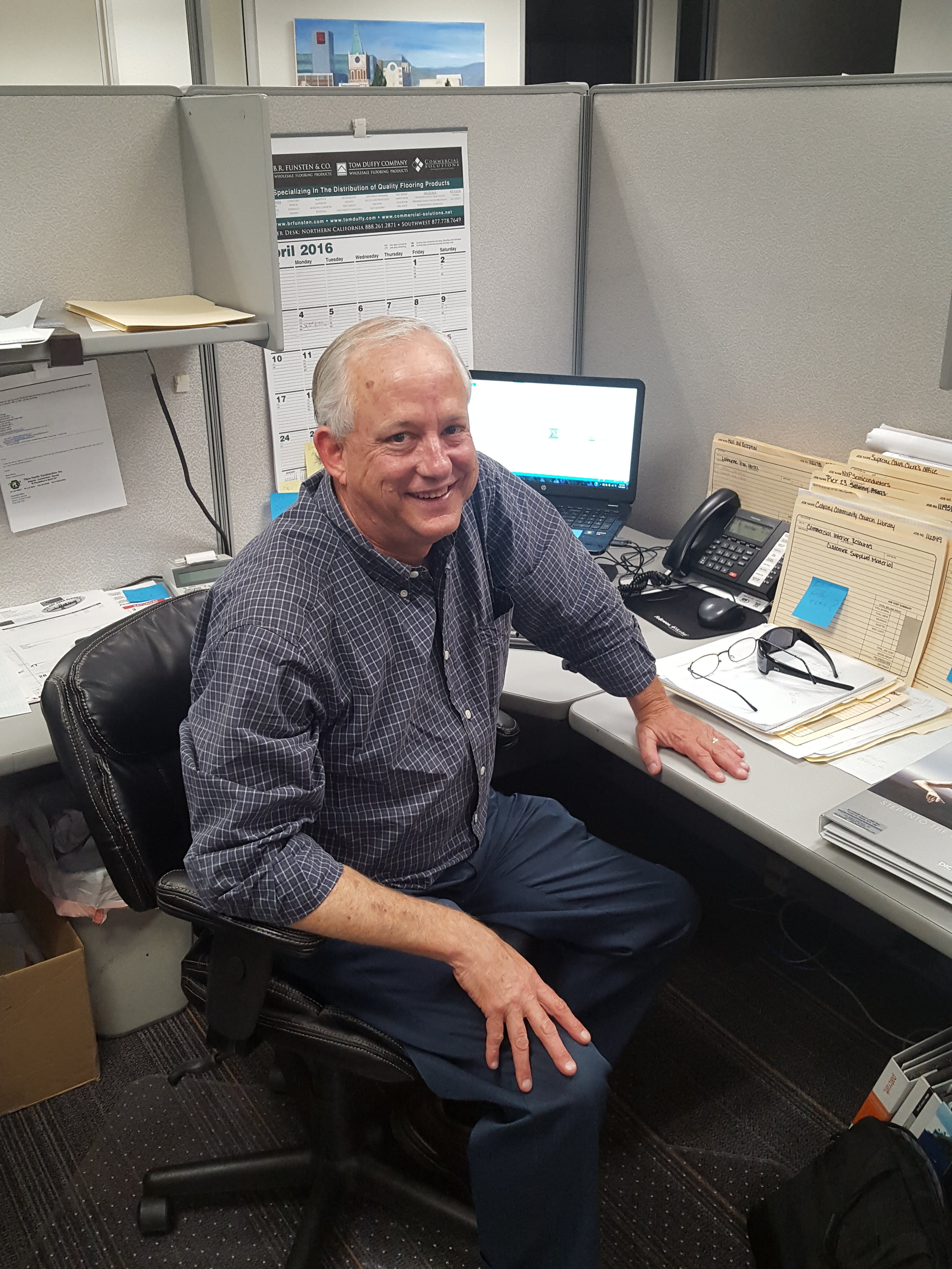 Jim Kinney, Account Manager   41 years in flooring  5 years at FSI    JimK@flooring-solutions.com
