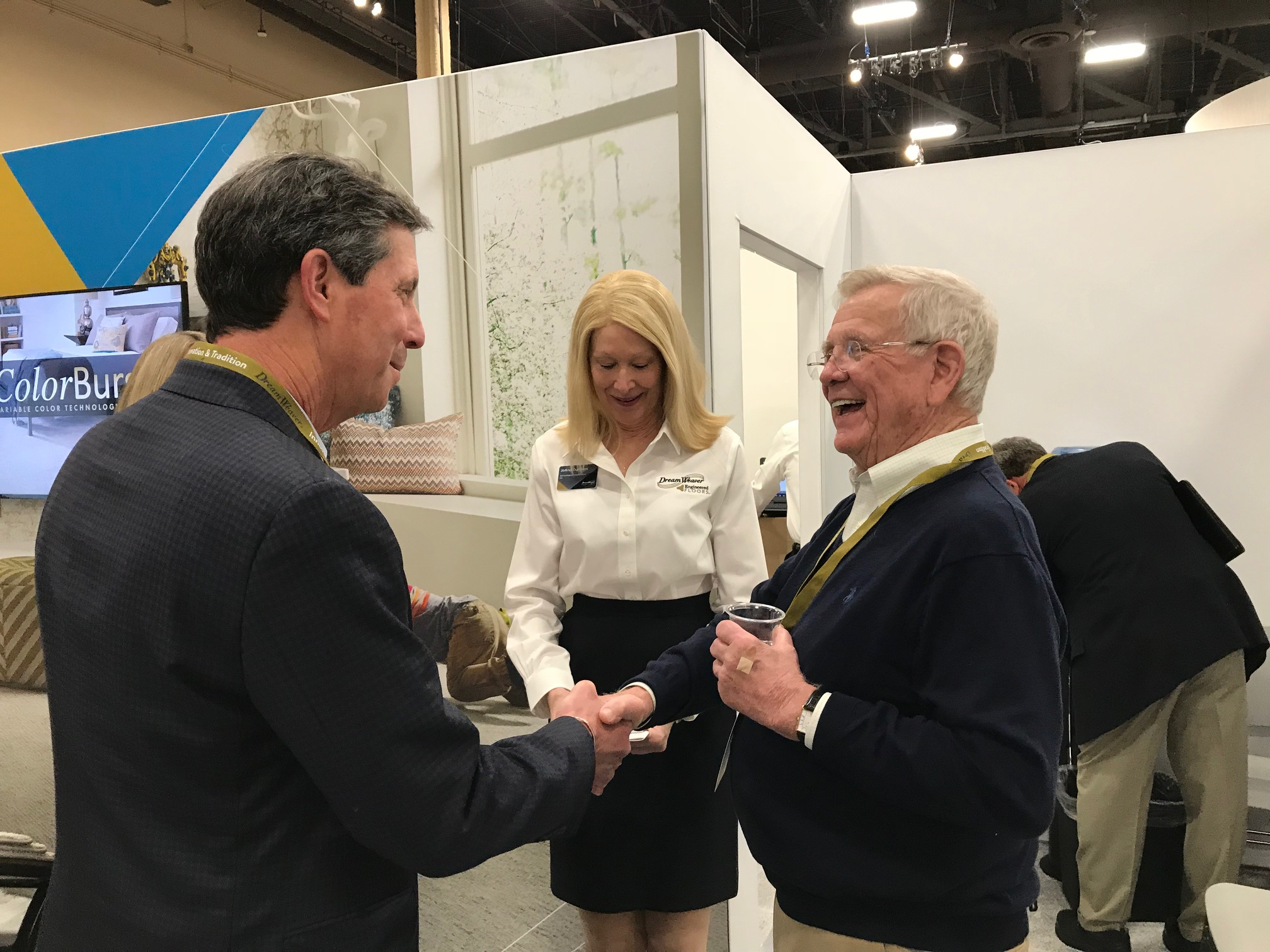 You really can't build a relationship any bigger that this one in the flooring business.    - Our owner Rick Elfman had the opportunity to meet Bob Shaw and reminisce about the old times and set up some tee times ;) If you know carpet, you know Shaw.