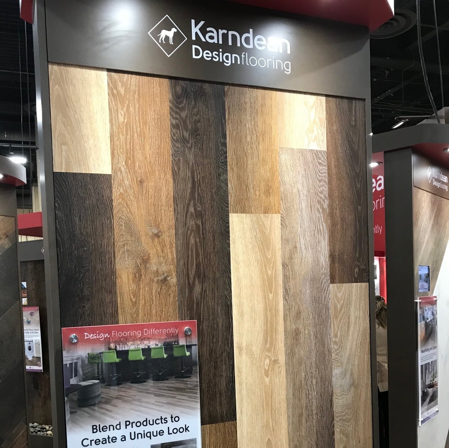 Visiting all the booths and seeing the new innovation was inspiring. Karndean was just one of the many that showed off their new designs for 2018. We saw everything from waterproof to magnetic flooring. -