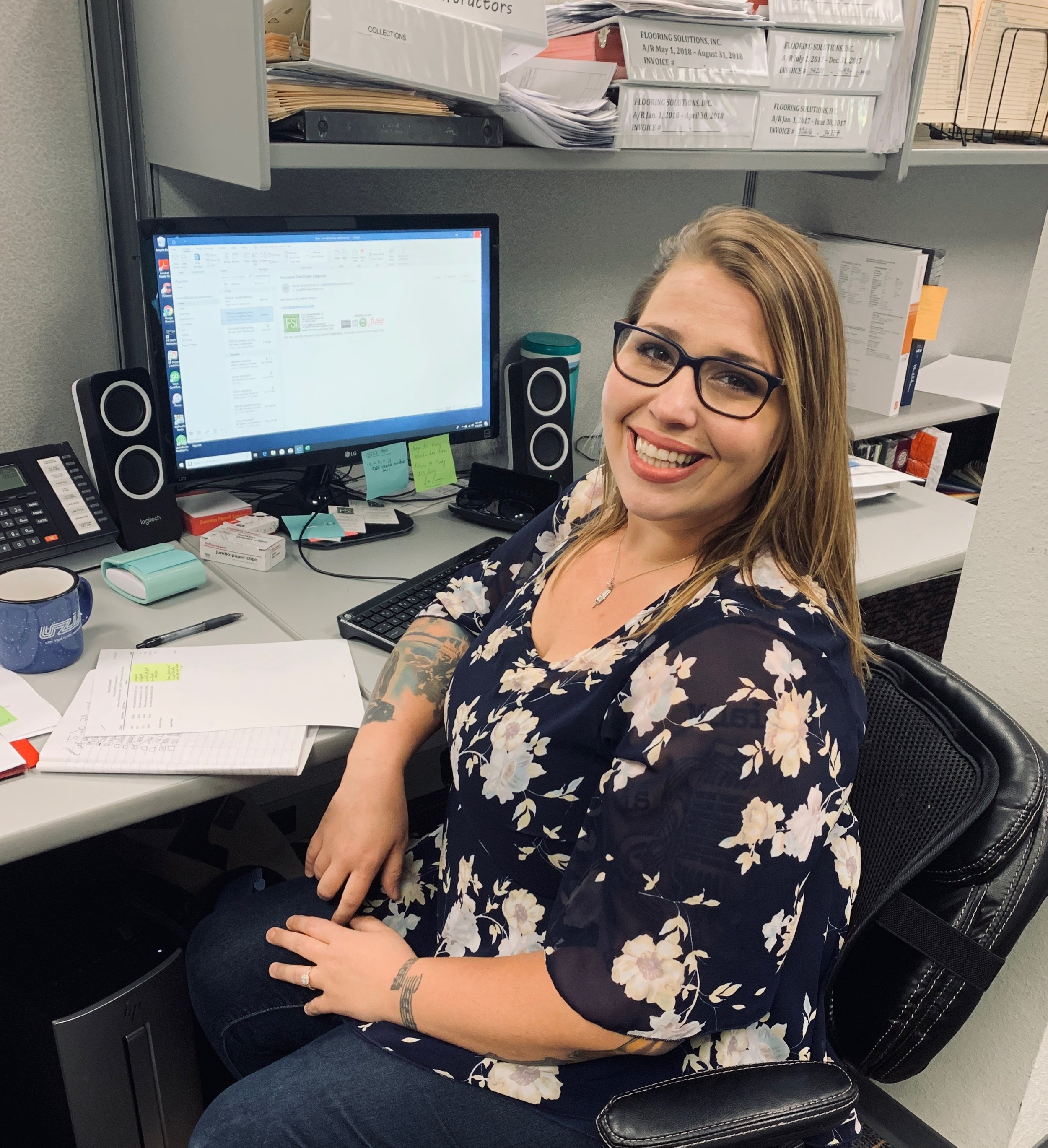 Anna Steiger, Administrative Assistant   1 year in flooring  1 year at FSI    anna@flooring-solutions.com