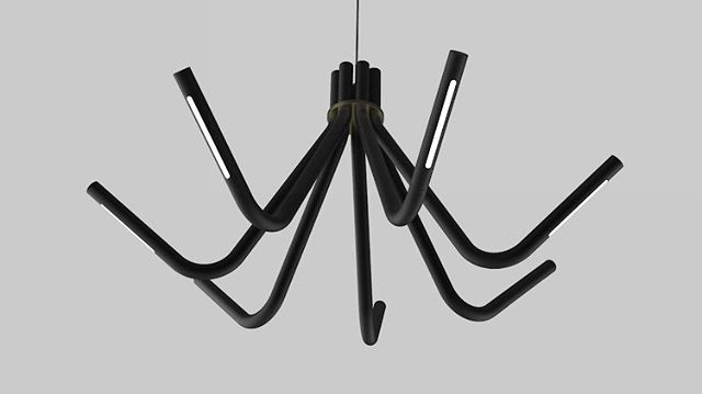 Bent metal lighting fixture with led light sources. More of a chandelier than a pendant but still my submission for #renderweekly #renderweeklys2w4  #modernlighting #led #lighting #lightdesign #rendering #keyshot #metal #solidworks #keyshot3d #designer #minimal #engineering #industrialdesign #id #productdesign #lettherebelight #itslit #concept