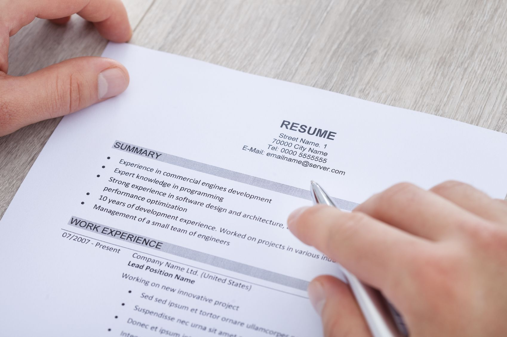 Resume - This where I stand on the professional level.