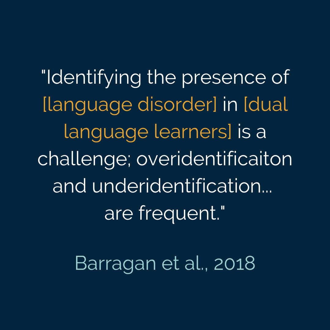 _Identifying the presence of [language disorder] in [dual language learners] is a challenge; overidentificaiton and underidentification... are frequent._.png