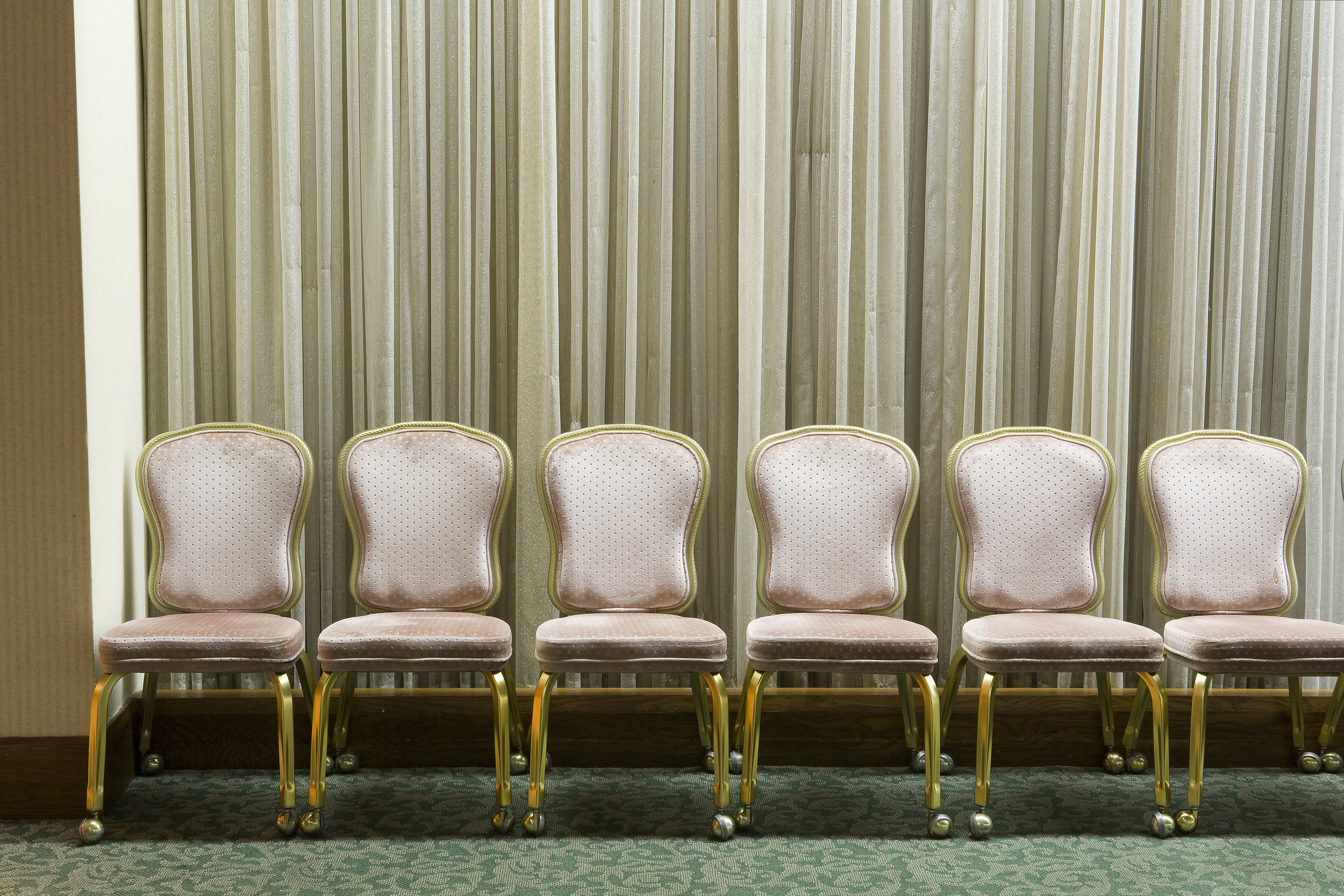 6 Pink Chairs