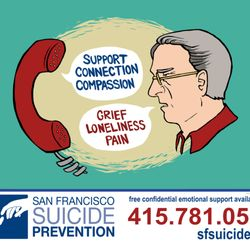 SF suicide prevention line - If you're thinking about suicide, are worried about a friend or loved one, or would like emotional support, the Lifeline network is available 24/7 across the United States.