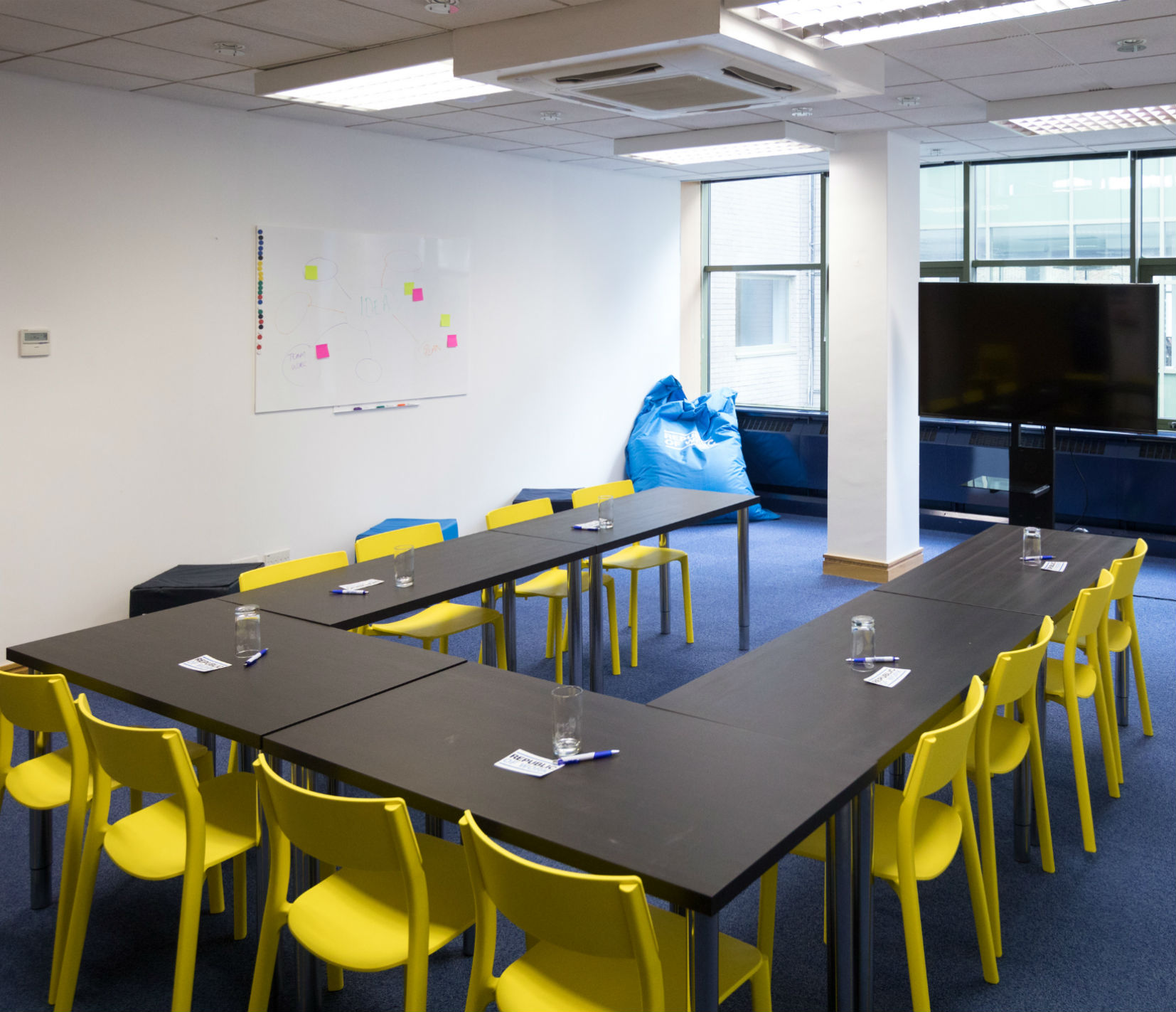 Innovation Suite - Our dedicated training and innovation suite has a 12- 40 person capacity with a separate breakout lobby. Complete with 60' Ultra HD screen including apple TV, chrome cast and HDMI inputs, Nespresso machines available for use.