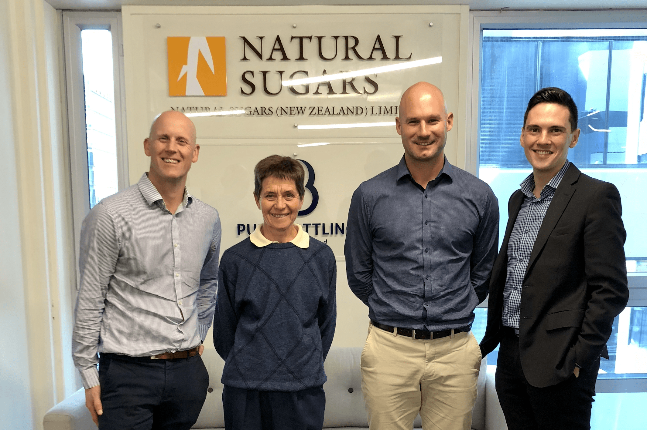 PICTURED  (from left to right): Natural Sugars – Karl Carey (Commercial Manager), Peta Logan (Key Account Manager), Hamish Gordon (MD), Nutrition Innovation's – Andrew Higgs (Country Manager - ANZ)