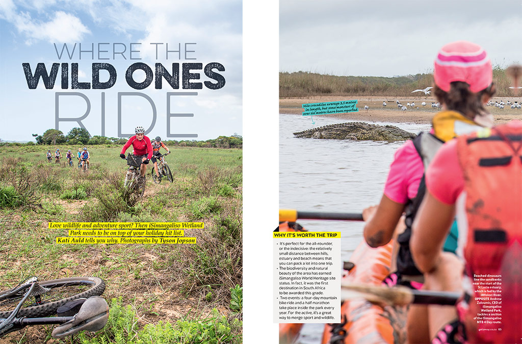 Riding with the wild ones - iSimangaliso Wetland Park is a place with adventure in its blood.
