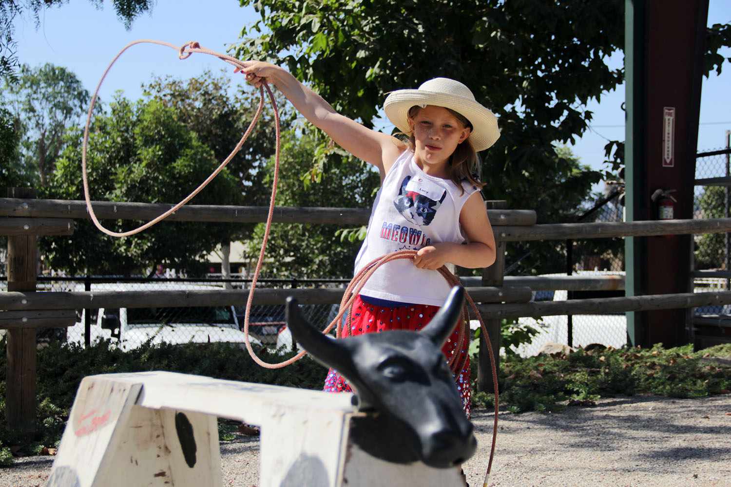 Shea Center Hosts Annual Cowboy Camp for Kids - The J.F. Shea Therapeutic Riding Center on Wednesday, Aug. 14, welcomed several children to take part in its annual Cowboy Camp where the kids got to learn ranched-based skills from local cowboys.