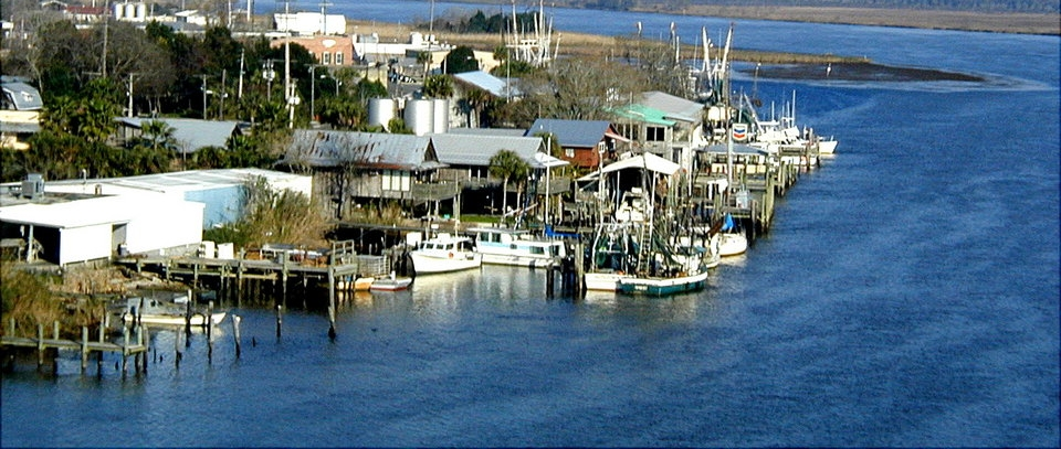 Fishing boats along Apalachicola waterfront