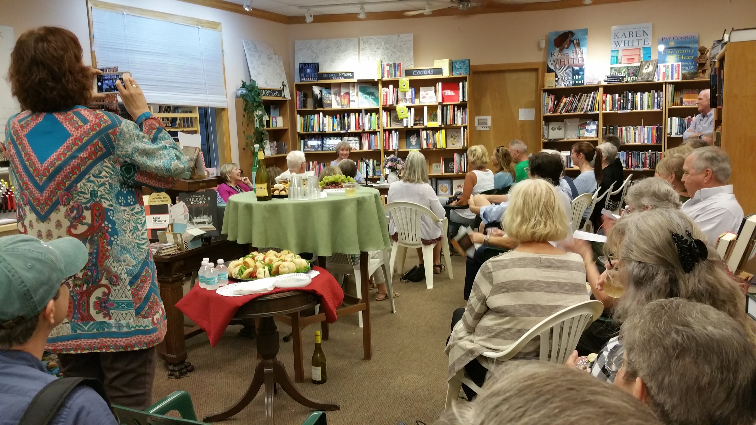 The crowd at The BookMark.