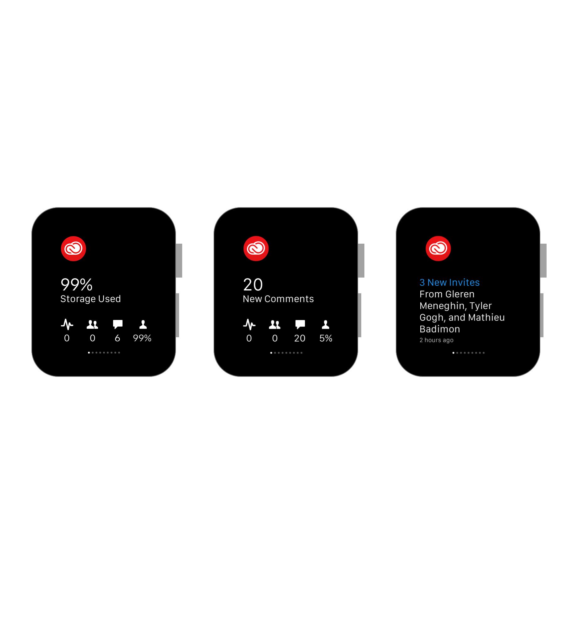 Adobe Creative Cloud App for Apple Watch  /   Adobe,  Apple Watch App