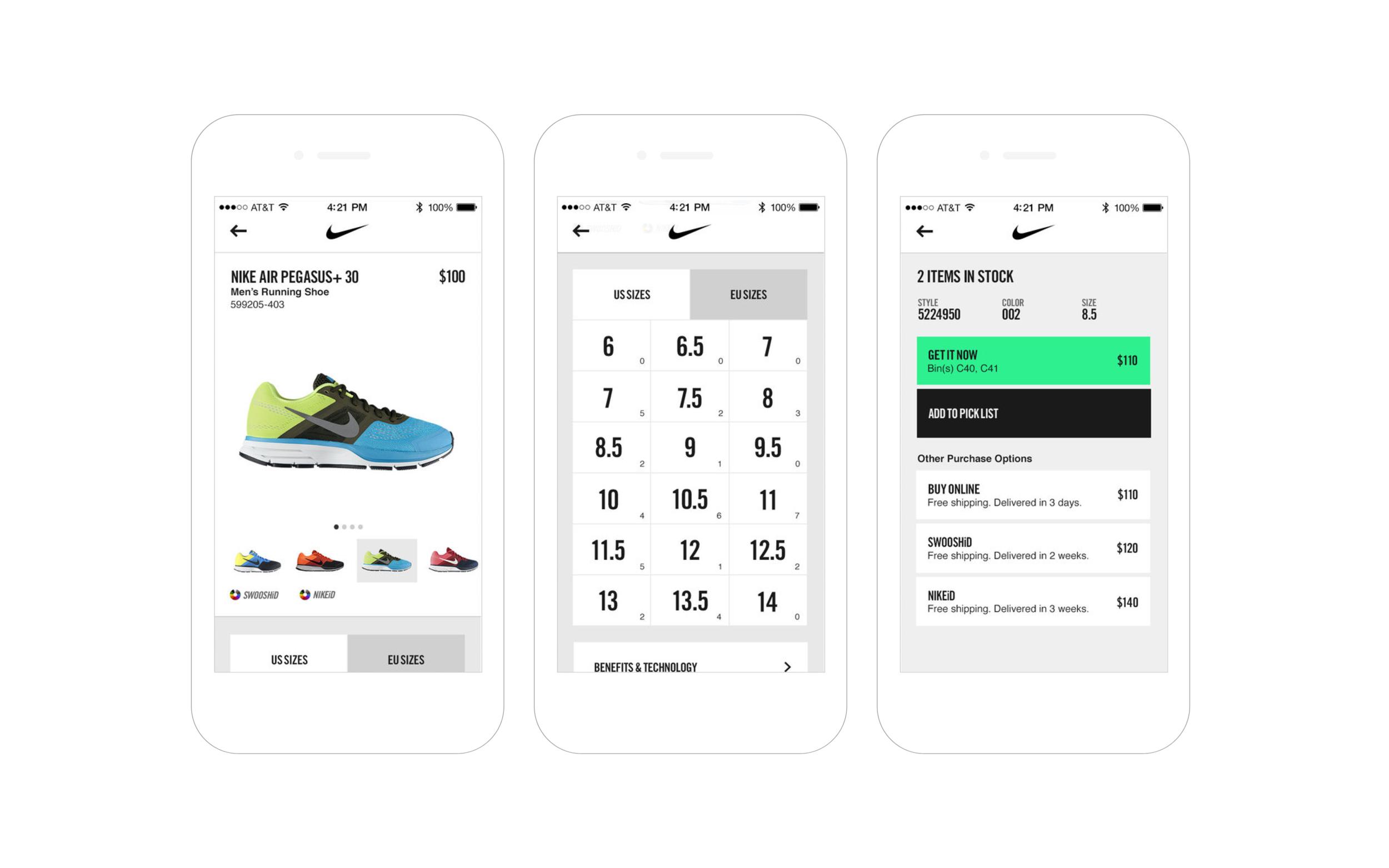 Nike mPOS  / R/GA, iOS App