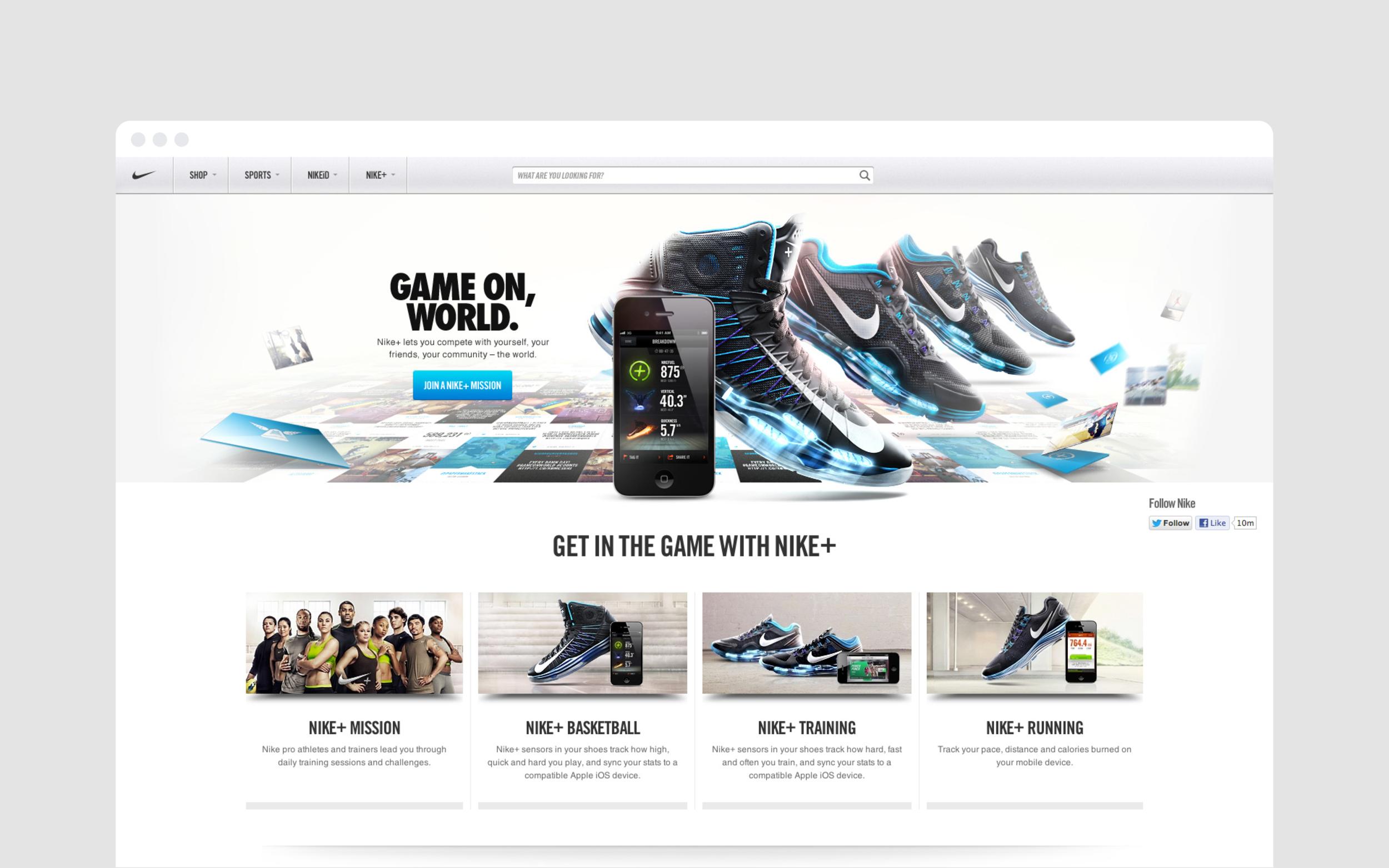 Nike.com redesign  / R/GA, web
