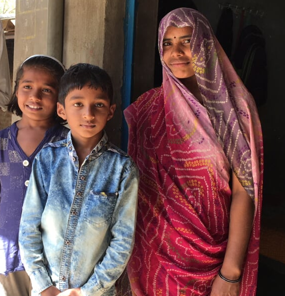 Arshima Debi and here children,Shritha and Amit