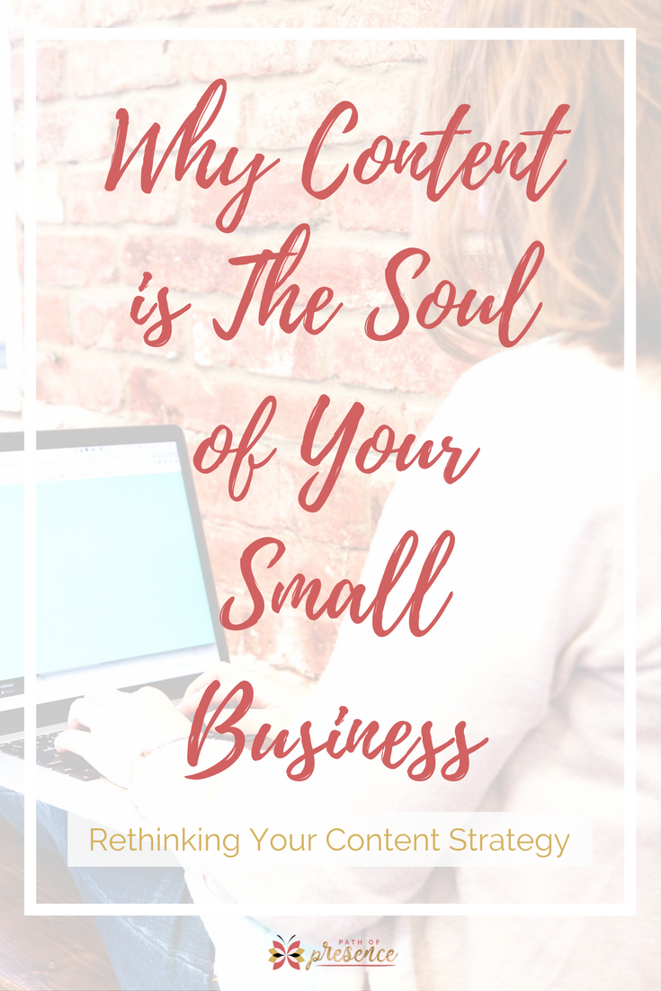 Why content is king - content is the soul of your small business // content creation for social media // content creation ideas, tools // social media tips for content creation