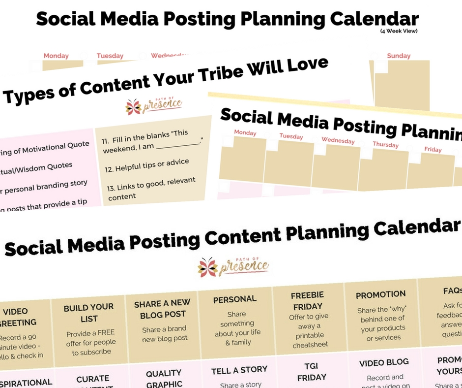 Free: Social Media Planning Calendars &30 Days Content -
