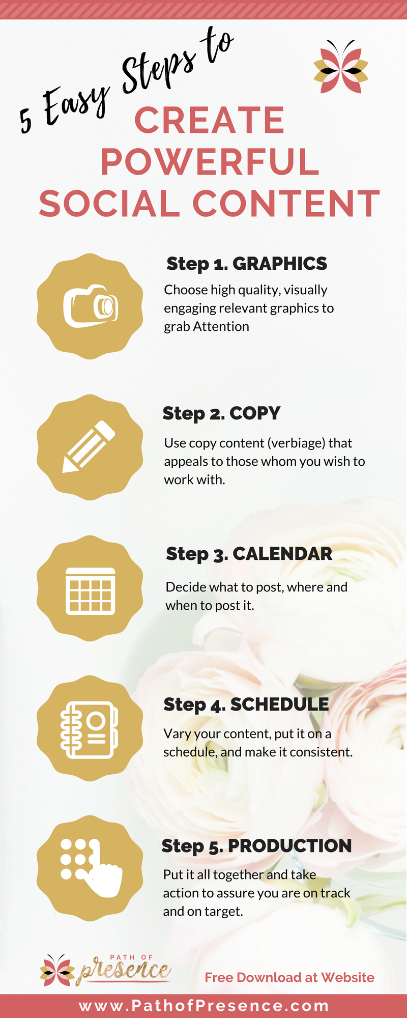 5 easy ways to create powerful social media content - How to create powerful content for social media // social media content ideas // social media content strategy // social media content calendar // social media content planner // social media content info