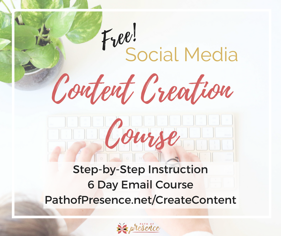 Complimentary  (Free!)  6 Day   Content Creation Course via Email   Step-by-Step Instruction on How to Create Fabulous Content.   Sign Up Here