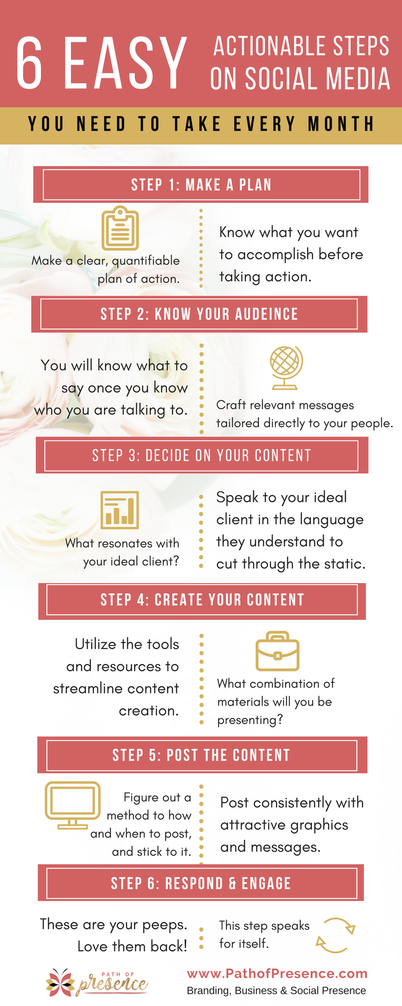 6-Easy-Actionable-Steps-on Social-Media-You-Need-To-Take // Social Media Marketing // Social Media Tips