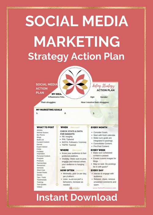 Social media Strategic Action Planner - Free Download at PathofPresence.com