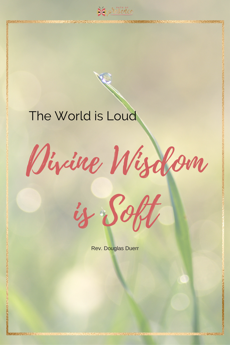 Daily Inspiration - The World is LOUD - Divine Wisdom is Soft - Rev Douglas Duerr - Path of Presence