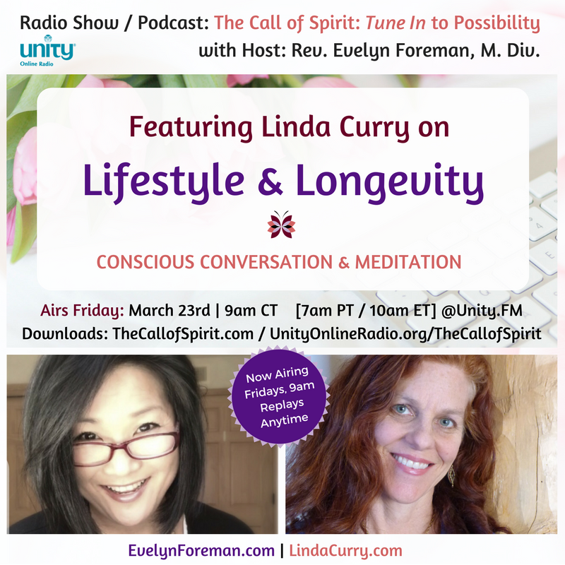 Lifestyle & Longevity with Linda J Current - 4 Minute Miracle Series - The Call of Spirit - Reverend Evelyn Foreman :: Path of Presence