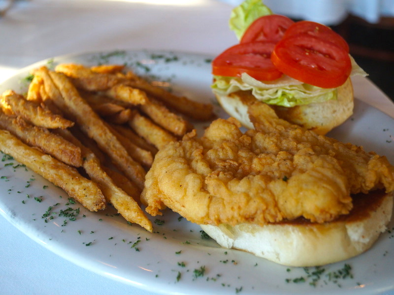 Fried Grouper Sandwich w/ Fries