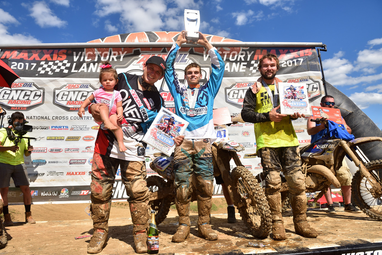 Hunter Neuwirth gets his first FMF - XC3 Pro Class Win. Photo by Ken Hill
