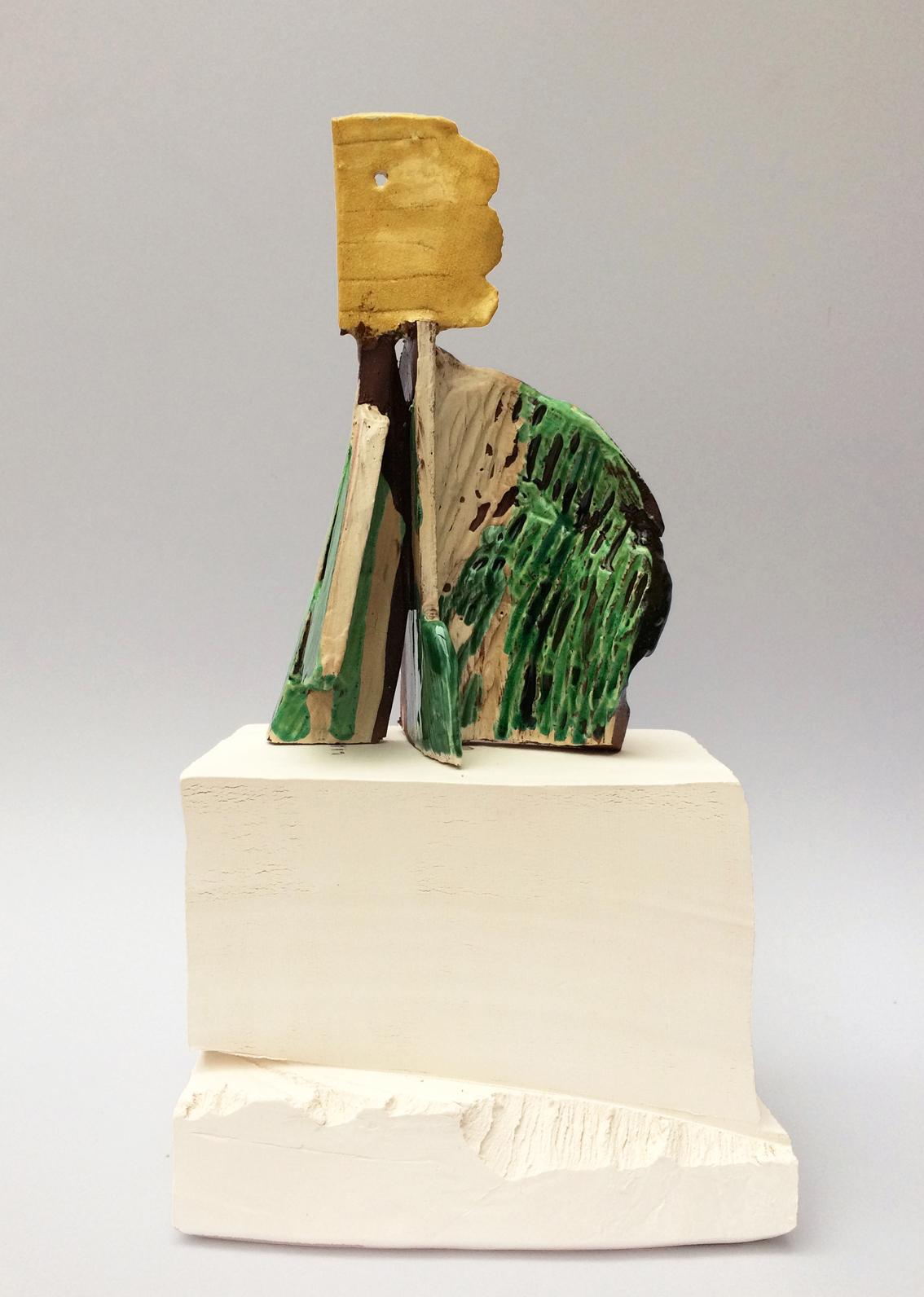 Yellow Head Lady - H 15cm x W 11cm