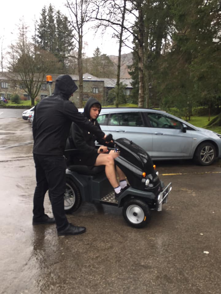 Lake District Mobility with staff at Langdale Hotel & Spa