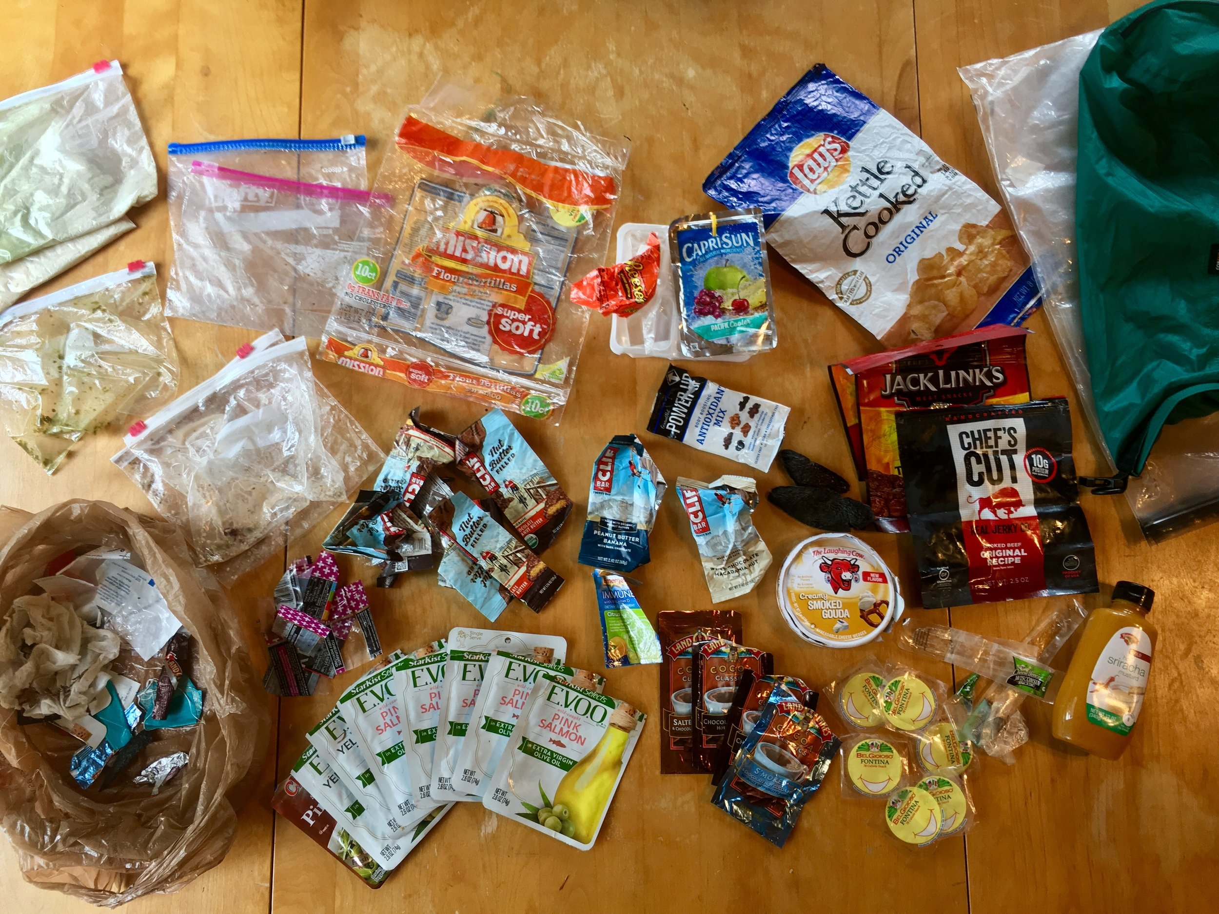 Pack it in and pack it out: food trash from the 100-Mile Wilderness