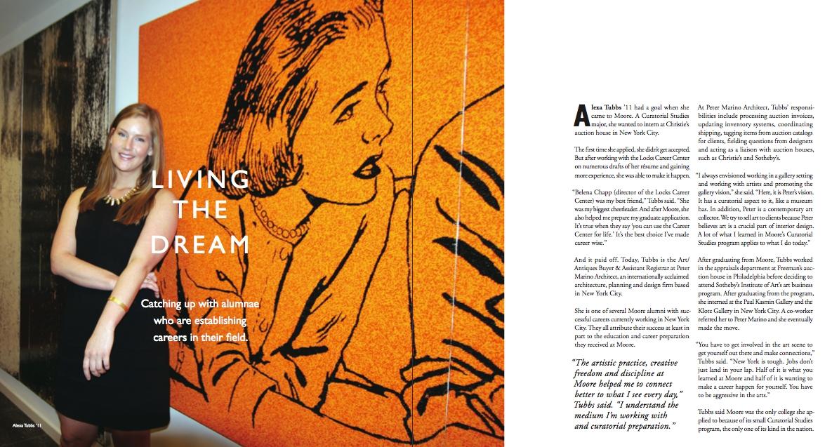 Fall/Winter 2014 Alumni Magazine, Moore College of Art & Design