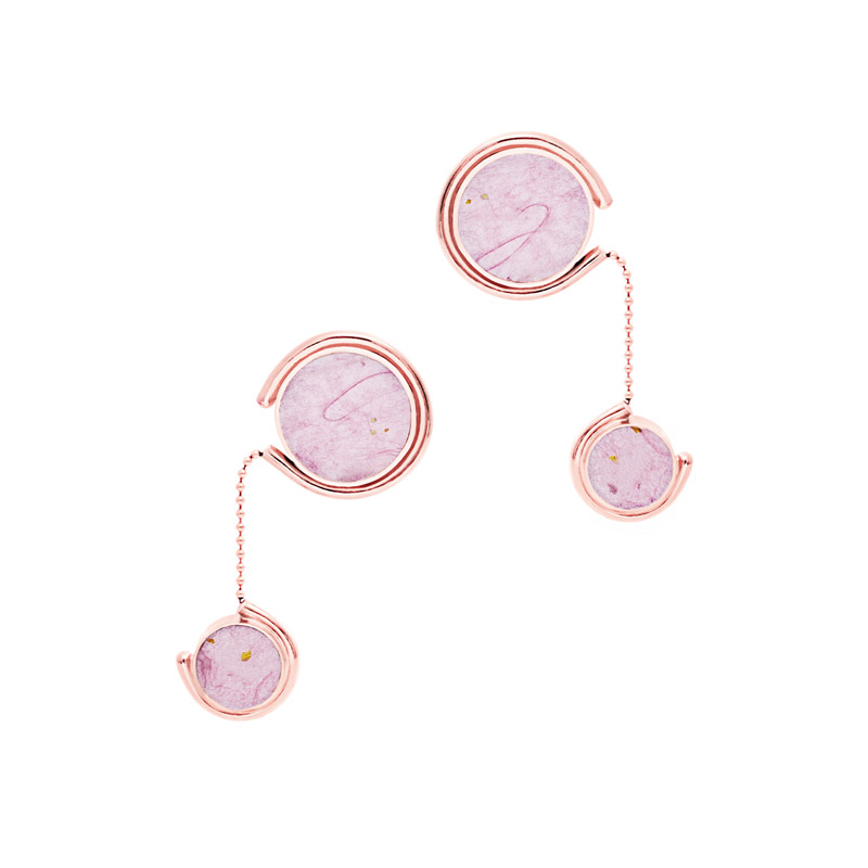 Tinted Earrings I Rose Gold Pink