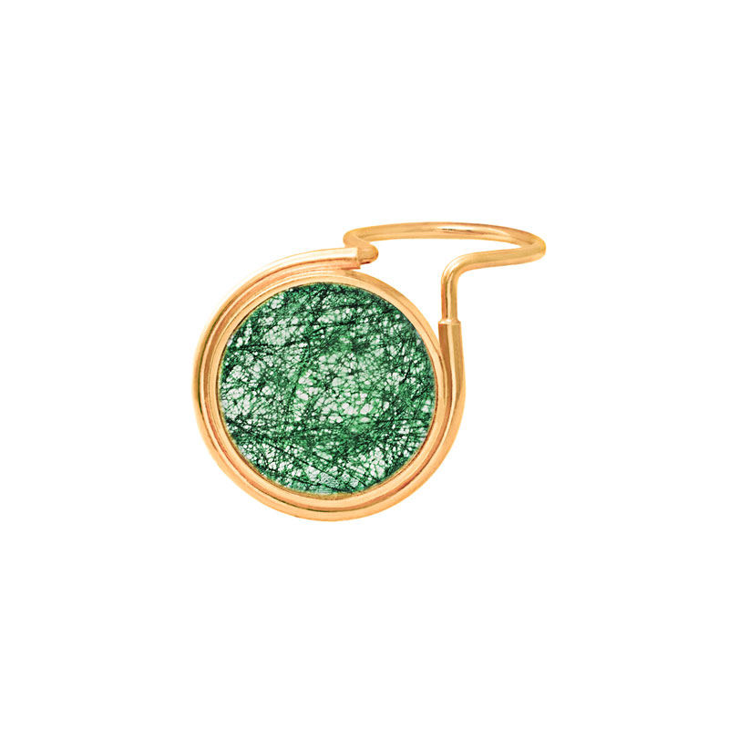 The Rose Tint Tinted Ring Gold Emerald Lace