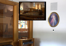 Church video application designed for overflow spaces.