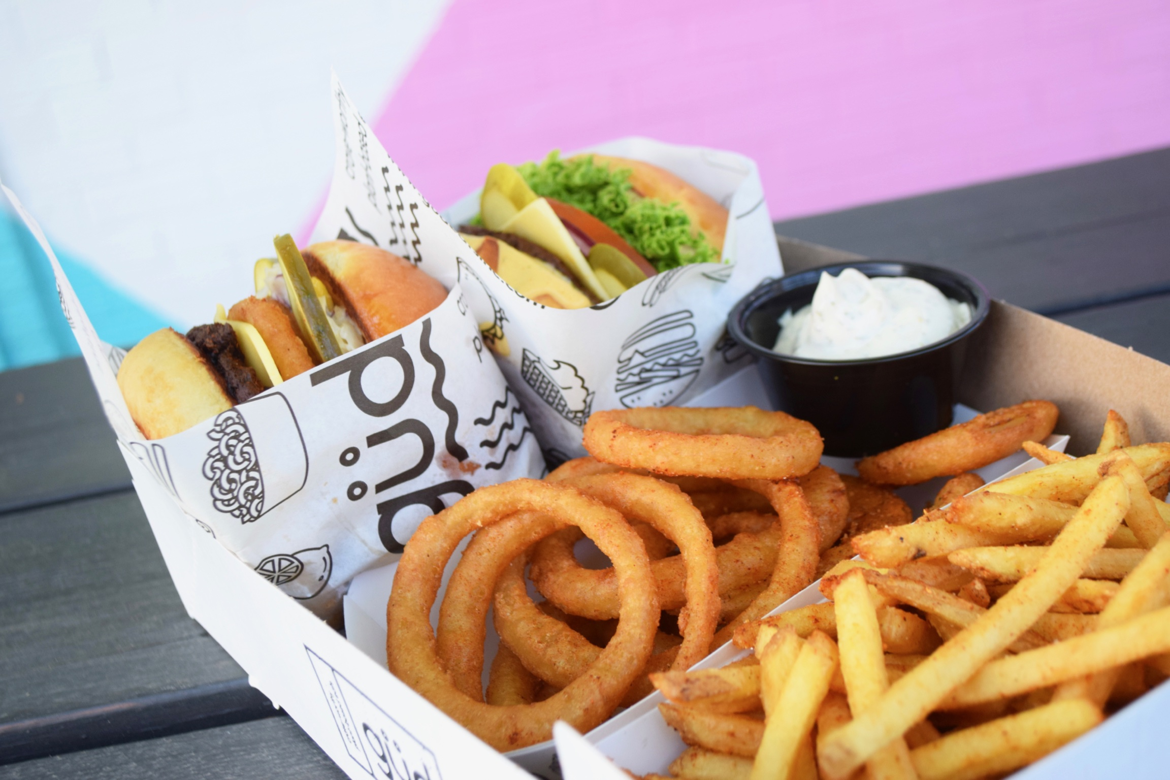 What's in the tastiest vegan food around? All kinds of güd stuff!