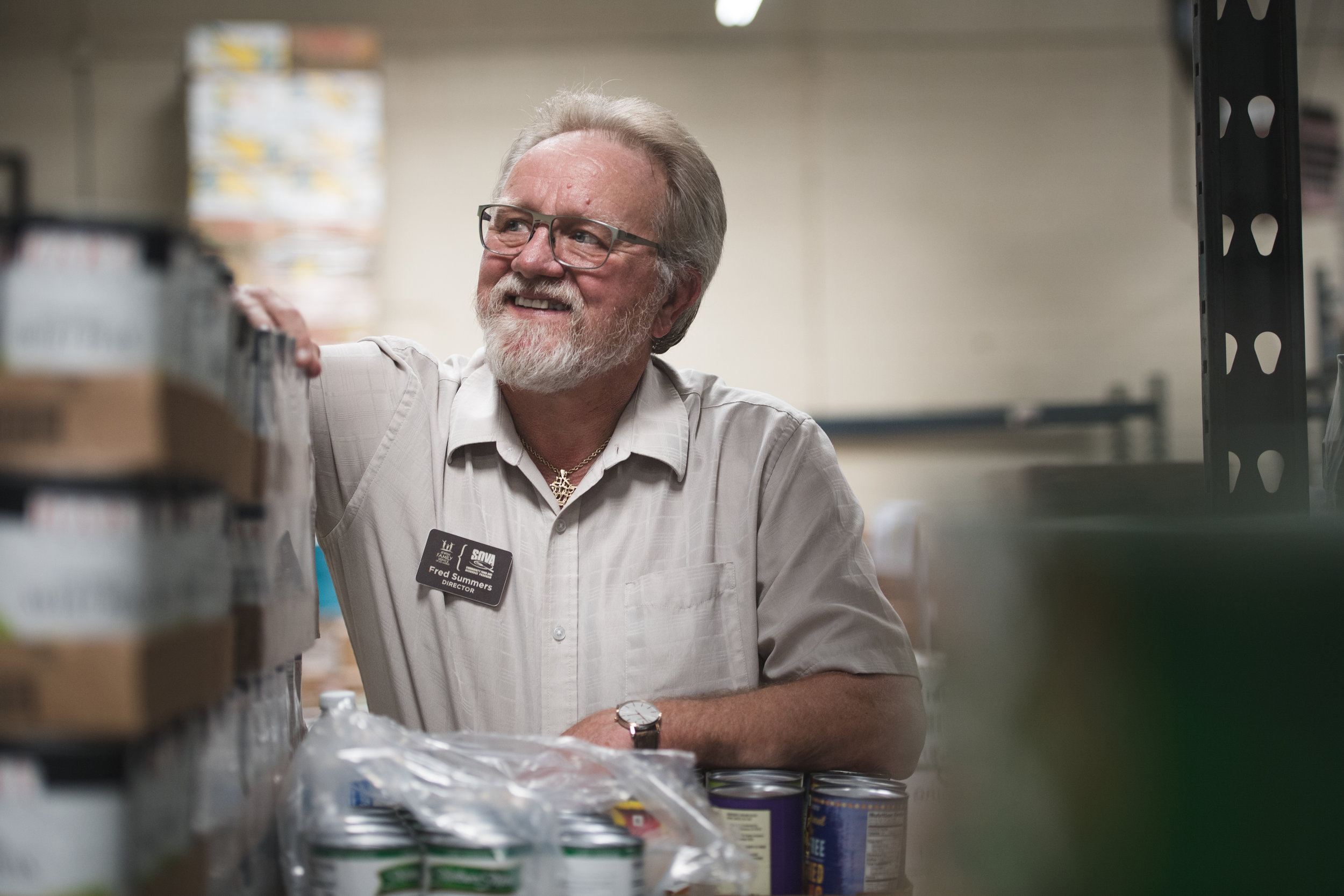 FACES of food forward - FRED SUMMERS: food pantry
