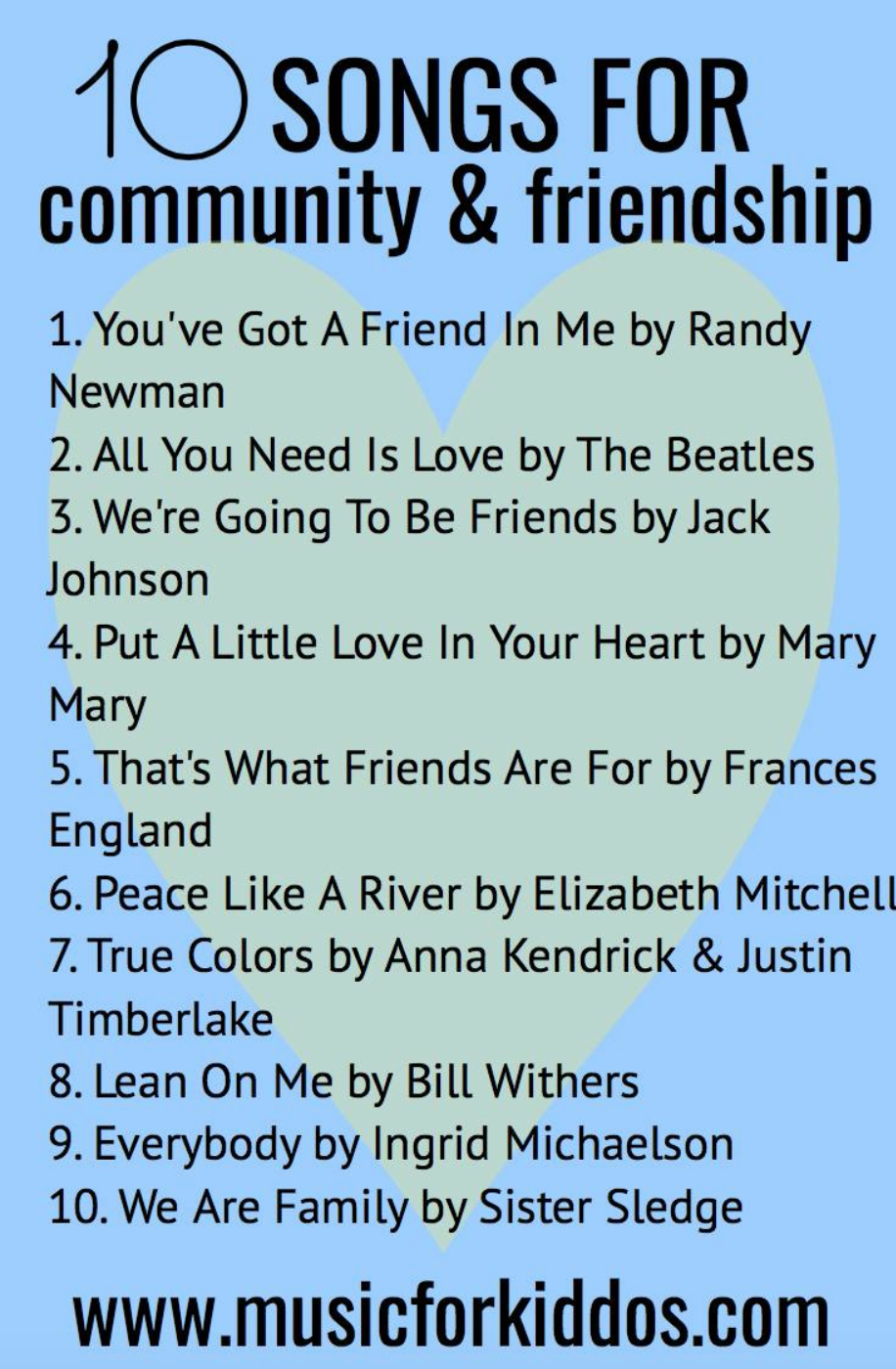 10 Songs for Community & Friendship