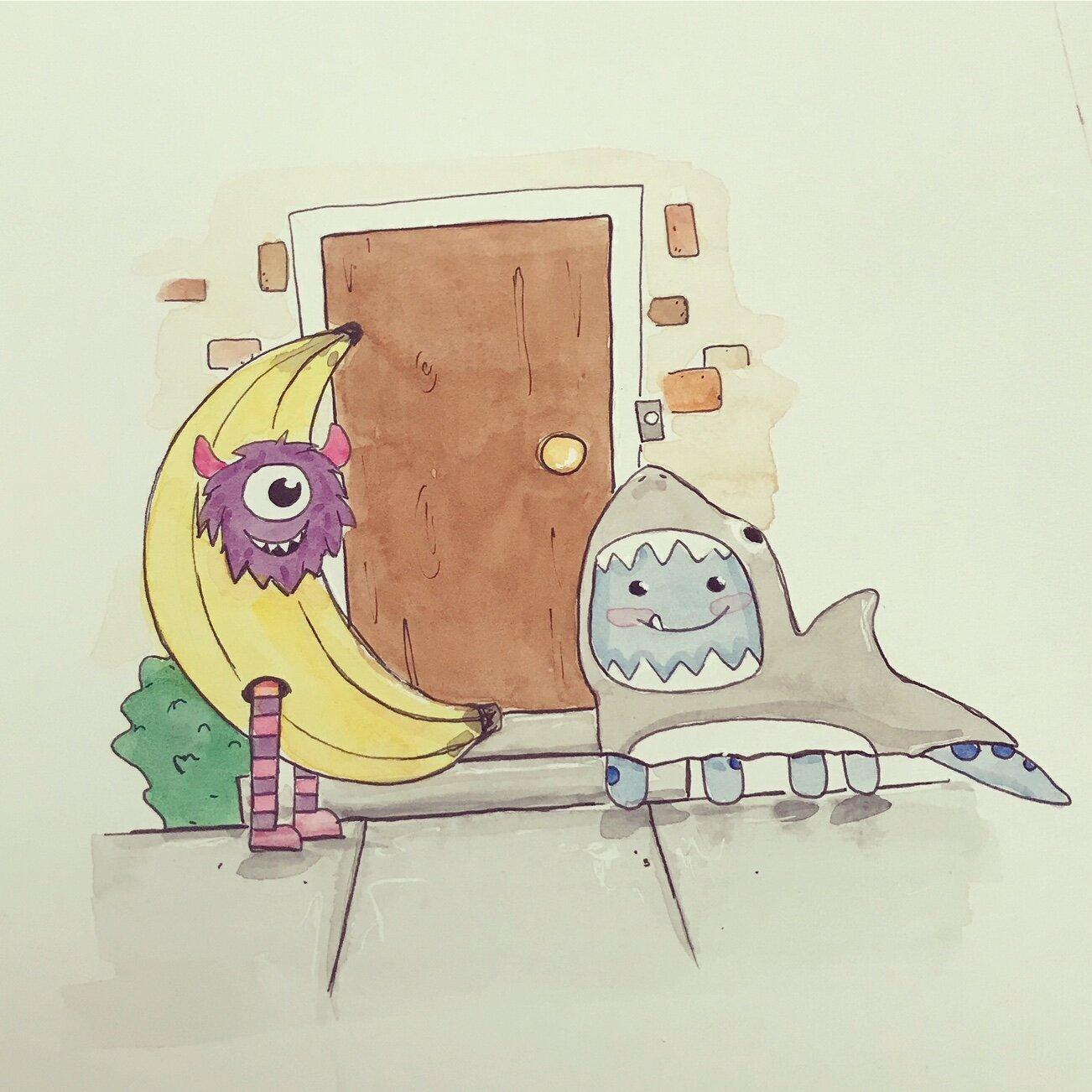 shy little monster