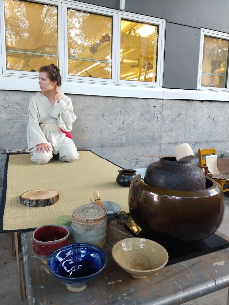 mikaela deighan was tea. made 100 tea cups as well